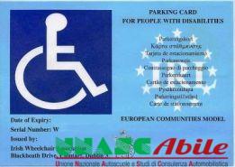 contrassegno per auto che, in deroga ad alcune prescrizioni di legge, mette al riparo i soggetti portatori di handicap