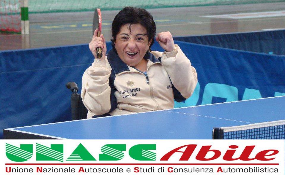 Grazia Turco è la testimonial di UNASCAbile per la Puglia.